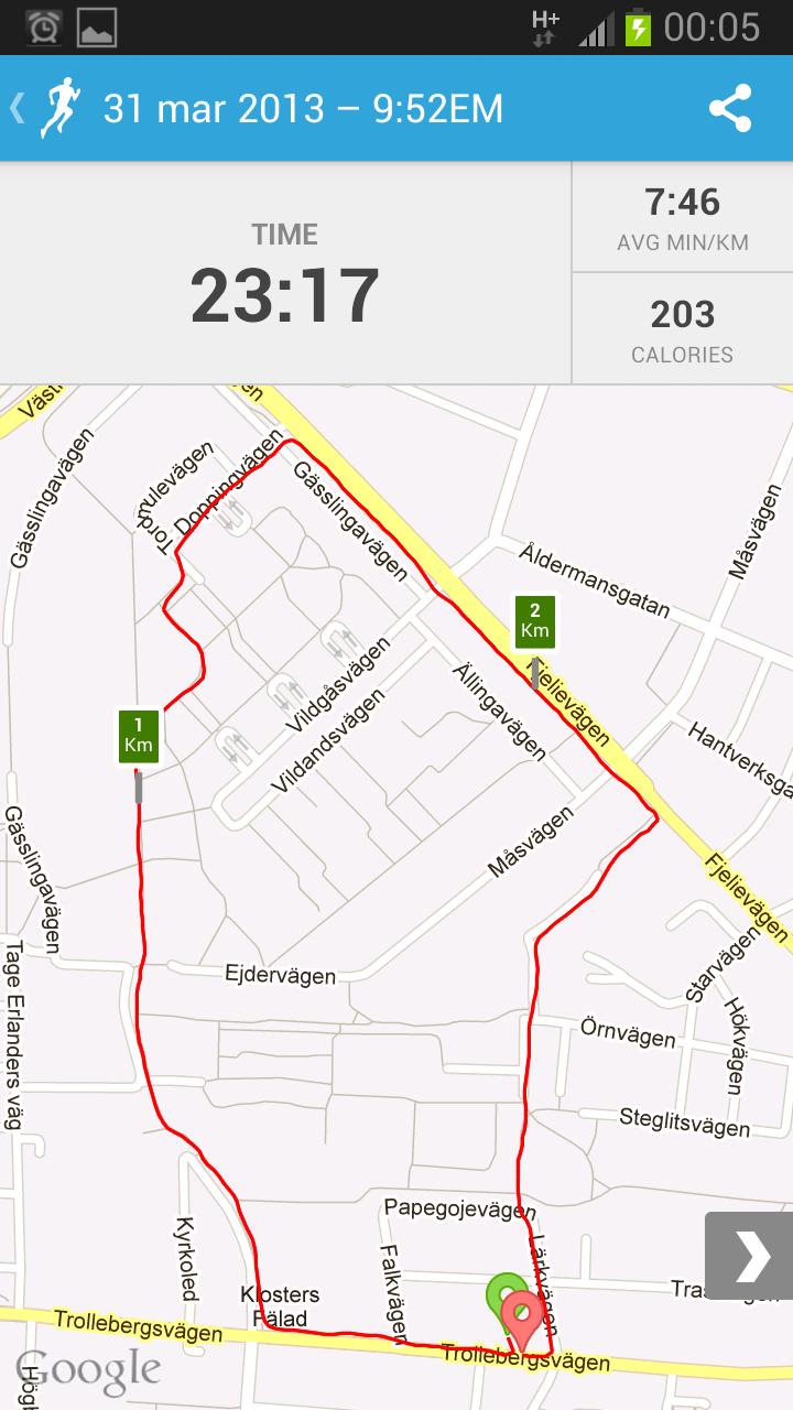 Första steget mot 5 km