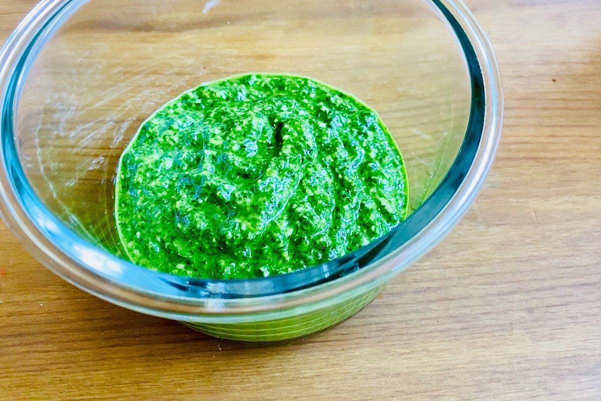 Pesto utan nötter och frön