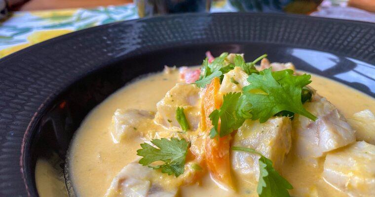 Fisksoppa med citrongräs och koriander